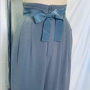 So Feminine High Waisted Ribbon Tie Pants | Japan